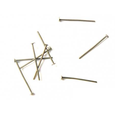 Acheter 10 clous couleur bronze à tête plate - 20 mm - 1,09€ en ligne sur La Petite Epicerie - Loisirs créatifs