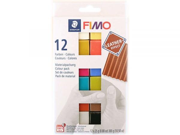 Acheter Pack de 12 demi-pains de pâte Fimo LEATHER EFFECT - 10,49€ en ligne sur La Petite Epicerie - 100% Loisirs créatifs