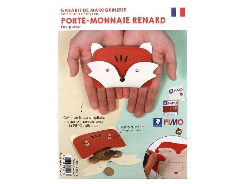 Acheter Gabarit pour Fimo LEATHER EFFECT - Porte-monnaie renard - 3,99€ en ligne sur La Petite Epicerie - Loisirs créatifs
