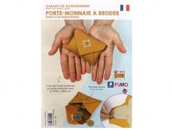 Gabarit pour Fimo LEATHER EFFECT - Porte-monnaie à broder Graine Créative by DTM