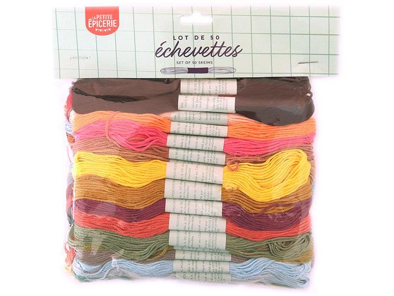 Acheter Lot de 50 échevettes- couleurs assorties - 7,99€ en ligne sur La Petite Epicerie - Loisirs créatifs