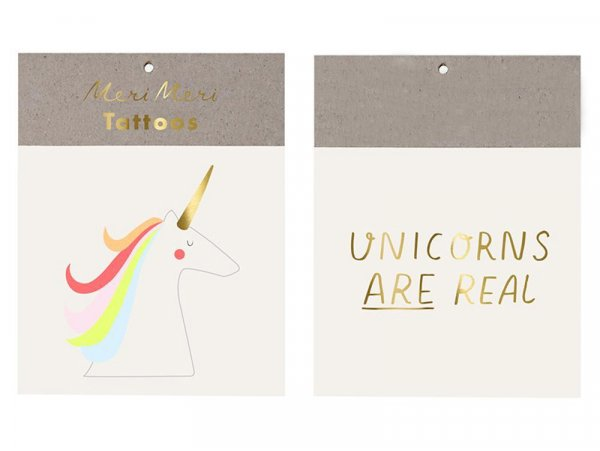 Acheter 2 Tatouages temporaires – Licorne - 2,19€ en ligne sur La Petite Epicerie - 100% Loisirs créatifs