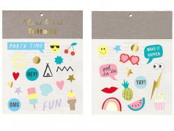 Acheter 2 planches de mini tatouages temporaires – Party Time - 2,19€ en ligne sur La Petite Epicerie - Loisirs créatifs