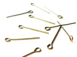 10 bronze-coloured eye pins - 20 mm