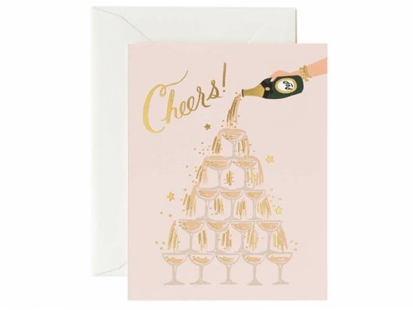 """Acheter Carte de voeux - Tour de champagne """"Cheers !"""" - 4,99€ en ligne sur La Petite Epicerie - 100% Loisirs créatifs"""