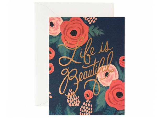 Acheter Carte - Life is beautiful - 4,99€ en ligne sur La Petite Epicerie - 100% Loisirs créatifs