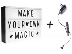 Acheter Lightbox A4 noire - boîte lumineuse + lettres - 24,49€ en ligne sur La Petite Epicerie - Loisirs créatifs