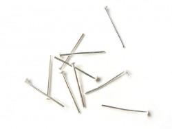 10 clous argentés à tête plate - 16 mm
