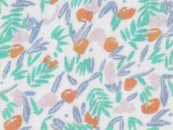 Acheter Tissu viscose Cousette Jungle de fleurs - Abricot - 1,80€ en ligne sur La Petite Epicerie - 100% Loisirs créatifs