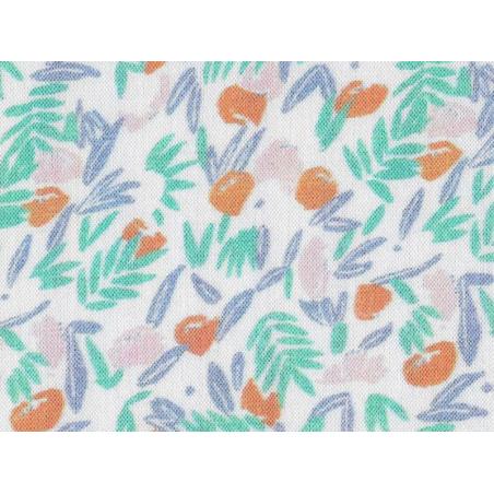 Acheter Tissu viscose Cousette Jungle de fleurs - Abricot - 1,80€ en ligne sur La Petite Epicerie - Loisirs créatifs