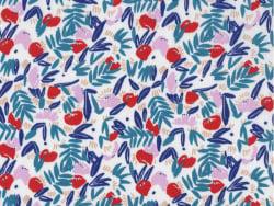 Acheter Tissu viscose Cousette Jungle de fleurs - Red - 1,80€ en ligne sur La Petite Epicerie - Loisirs créatifs