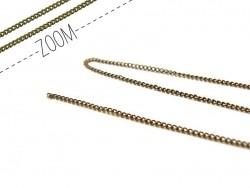1 m chaine gourmette couleur bronze - 1 mm