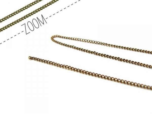 1 bronze-coloured curb chain - 1 mm