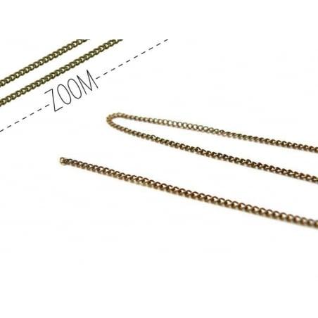 Acheter Chaine gourmette 1 mm couleur bronze x 20 cm - 0,49€ en ligne sur La Petite Epicerie - 100% Loisirs créatifs