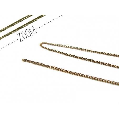 1 m chaine gourmette couleur bronze - 1 mm  - 1