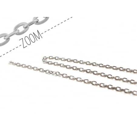 Acheter Chaine forçat 3 mm argentée x 20 cm - 0,49€ en ligne sur La Petite Epicerie - Loisirs créatifs