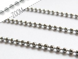 Ball chain ( m) - 1.5 mm - dark silver-coloured