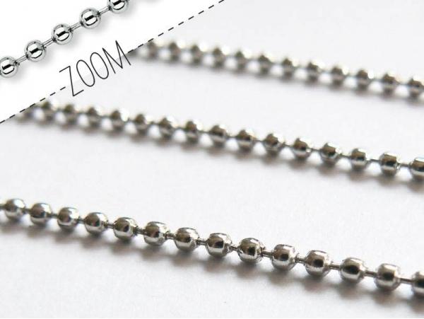 Ball chain ( m) - 1.5 mm - dark silver-coloured