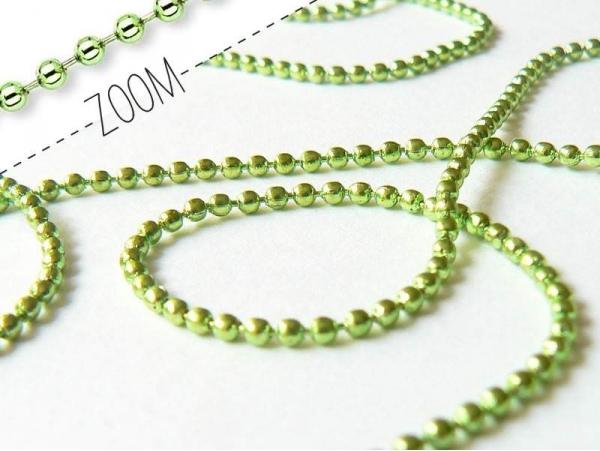 Green ball chain (1 m) - 1.5 mm