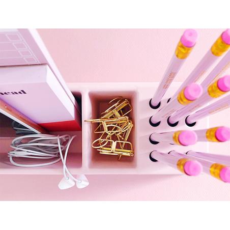 Acheter Organisateur de bureau en bambou spécial crayons - rose - 24,99€ en ligne sur La Petite Epicerie - Loisirs créatifs