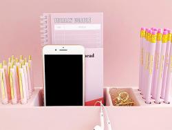 Acheter Organisateur de bureau en bambou spécial crayons - rose - 24,99€ en ligne sur La Petite Epicerie - 100% Loisirs créa...