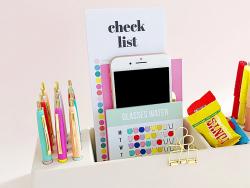 Acheter Organisateur de bureau en bambou spécial crayons - blanc - 24,99€ en ligne sur La Petite Epicerie - Loisirs créatifs