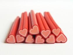 Acheter Cane coeur rouge en pâte fimo - à découper en tranches - 0,99€ en ligne sur La Petite Epicerie - Loisirs créatifs