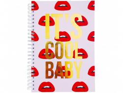 """Acheter Carnet A5 pages lignées - """"IT'S COOL BABY"""" - 10,99€ en ligne sur La Petite Epicerie - 100% Loisirs créatifs"""