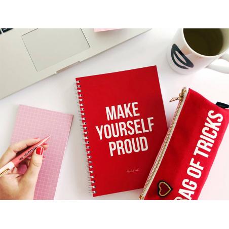 """Acheter Carnet A5 pages lignées - """"MAKE YOURSELF PROUD"""" - 10,99€ en ligne sur La Petite Epicerie - 100% Loisirs créatifs"""