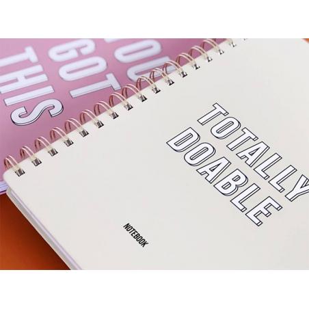 """Acheter Grand carnet pages lignées - """"TOTALLY DOABLE"""" - 16,99€ en ligne sur La Petite Epicerie - Loisirs créatifs"""