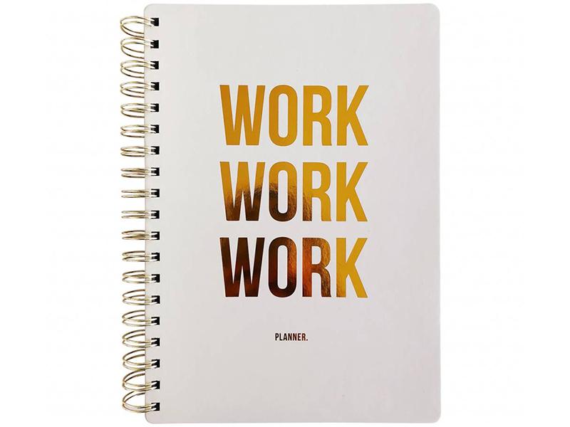 """Acheter Grand agenda semainier perpétuel - """"WORK WORK WORK"""" - 18,99€ en ligne sur La Petite Epicerie - 100% Loisirs créatifs"""