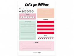 Acheter Bloc-notes - Let's go offline - 4,99€ en ligne sur La Petite Epicerie - 100% Loisirs créatifs