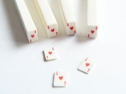 Card cane - ace of hearts