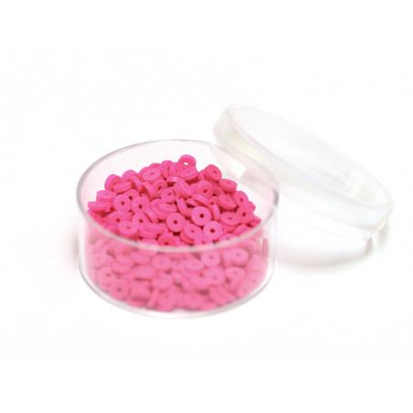 Acheter Boite de perles rondelles heishi 3 mm - rose camelia - 1,99€ en ligne sur La Petite Epicerie - Loisirs créatifs