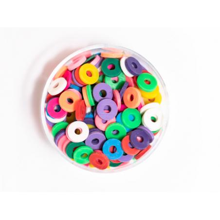 Acheter Boite de perles rondelles heishi 6 mm - mix de couleurs pop - 1,99€ en ligne sur La Petite Epicerie - Loisirs créatifs