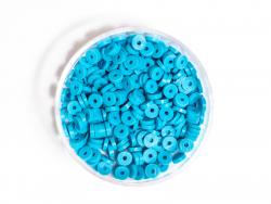 Acheter Boite de perles rondelles heishi 3 mm - bleu céruléen - 1,99€ en ligne sur La Petite Epicerie - 100% Loisirs créatifs