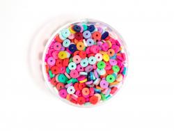Acheter Boite de perles rondelles heishi 3 mm - mix de couleurs pop - 1,99€ en ligne sur La Petite Epicerie - 100% Loisirs c...