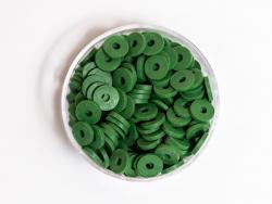 Acheter Boite de perles rondelles heishi 6 mm - vert végétal - 1,99€ en ligne sur La Petite Epicerie - Loisirs créatifs