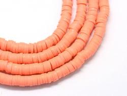 Acheter Boite de perles rondelles heishi 6 mm - orange corail - 1,99€ en ligne sur La Petite Epicerie - Loisirs créatifs