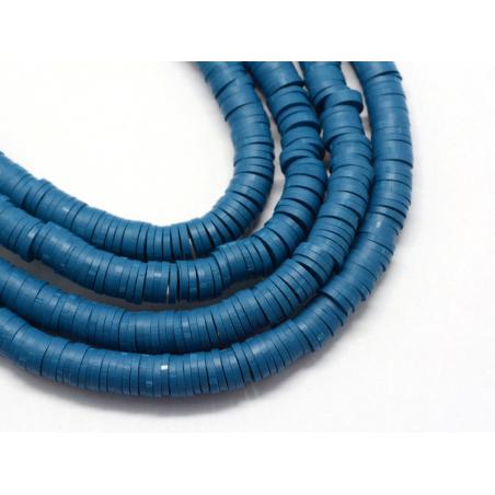 Acheter Boite de perles rondelles heishi 6 mm - bleu acier - 1,99€ en ligne sur La Petite Epicerie - Loisirs créatifs