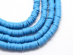 Acheter Boite de perles rondelles heishi 6 mm - bleu céruléen - 1,99€ en ligne sur La Petite Epicerie - Loisirs créatifs