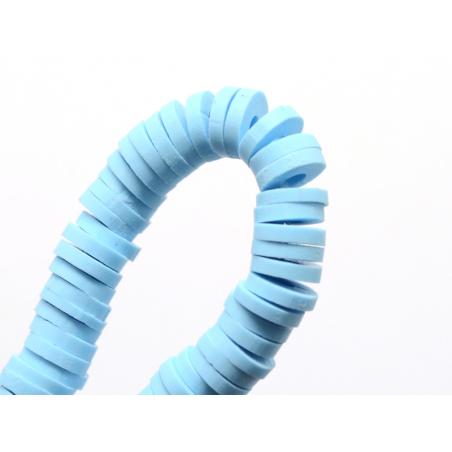 Acheter Boite de perles rondelles heishi 6 mm - bleu clair - 1,99€ en ligne sur La Petite Epicerie - Loisirs créatifs