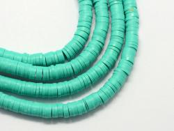 Acheter Boite de perles rondelles heishi 6 mm - turquoise - 1,99€ en ligne sur La Petite Epicerie - Loisirs créatifs