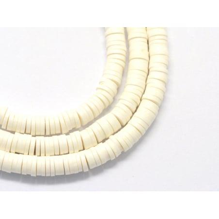 Acheter Boite de perles rondelles heishi 6 mm - blanc - 1,99€ en ligne sur La Petite Epicerie - Loisirs créatifs