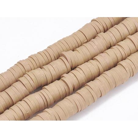 Acheter Boite de perles rondelles heishi 6 mm - sable - 1,99€ en ligne sur La Petite Epicerie - 100% Loisirs créatifs