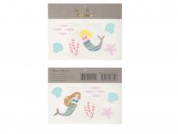 Acheter 2 planches de mini tatouages éphémères Sirènes - 2,49€ en ligne sur La Petite Epicerie - Loisirs créatifs