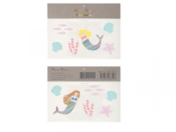 Acheter 6 planches de mini tatouages éphémères Sirènes - 2,49€ en ligne sur La Petite Epicerie - 100% Loisirs créatifs