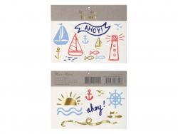 Acheter 6 planches de mini tatouages éphémères style marin - 2,49€ en ligne sur La Petite Epicerie - 100% Loisirs créatifs