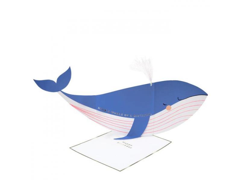 Acheter Carte d'anniversaire à déplier - Baleine - 5,00€ en ligne sur La Petite Epicerie - Loisirs créatifs
