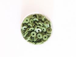 Acheter Boite de perles rondelles heishi 6 mm - vert olive - 1,99€ en ligne sur La Petite Epicerie - Loisirs créatifs
